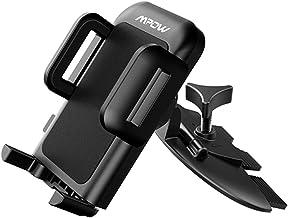Support fente CD universel pour téléphone portable Mpow Grip Pro 2 Support universel fente CD montable avec une simple pression, rotation à 360degrés, 5tests différents sur socle de voiture pour iPhone 6/6&nb