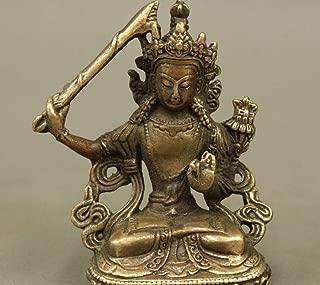 CAMLEO Manjushri Bodhisattva Statue Tibet Buddhism Temple Bronze Manjuist Goddess Figurines Efficacious Amulet Home Decor
