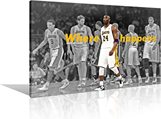 TUMOVO Canvas Painting NBA All Stars of Los Angeles Laker Wall Art Home Decor for Living Room Prints 1 Piece Basketball Le...