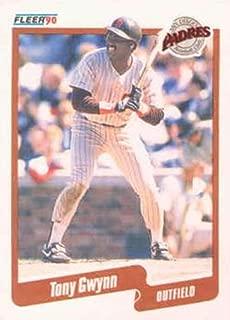 1990 Fleer Baseball #157 Tony Gwynn San Diego Padres Official MLB Trading Card