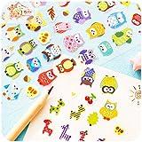 BLOUR Kawaii Giraffe Eule Kleber DIY Sticker Stick Label Notizbuch Album Tagebuch Dekor Student Briefpapier Kinder Geschenk