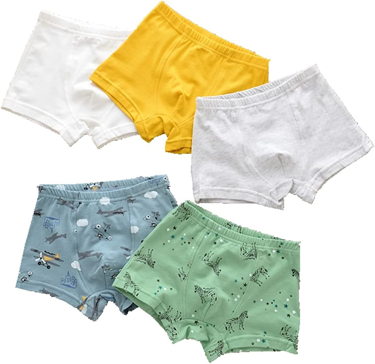 Czofnjesi Little Boys Boxer Briefs Colorful Thing Comfort Cotton Shorts Underwear Pack of 5