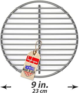 Stainless High Heat Charcoal Fire Grate Upgrade for Large/MiniMax Big Green Egg Grill - 9