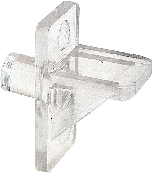Slide Co 243409 Plastic Shelf Support Pegs Clear 12pk 5mm Outside Diameter Easily Replace Missing Or Broken Shelf Supports Serrated Stems For Stronger Grip Easy To Install