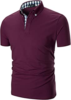STTLZMC Men's Short Sleeve Polo Shirts Casual Fit Golf...
