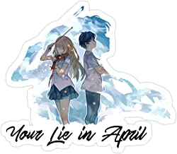 Snoopdy (3 PCs/Pack) Shigatsu Wa Kimo No USO Your Lie in April 3x4 Inch Die-Cut Stickers Decals for Laptop Window Car Bumper Helmet Water Bottle