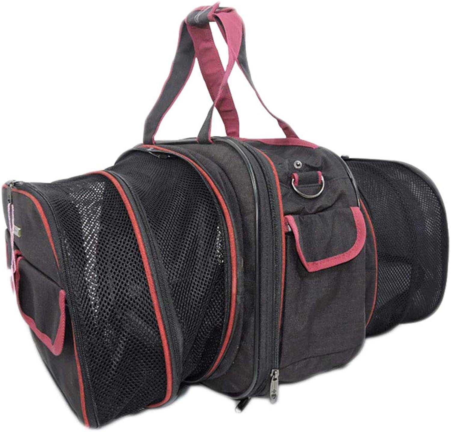 NINOMI Pet Bag Can Be Car Ventilated Small Dog With A Backpack To Retract The Cat Bag,Black