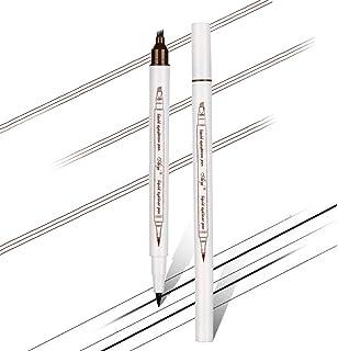 Aaiffey Eyebrow Tattoo Pen-Waterproof Eyeliner+Microblading Eyebrow Pencil with Micro-Fork Tips Applicator 2 in 1 Creates Natural Looking Eye Makeup Effortlessly