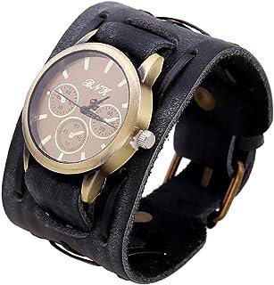 Monbedos Mode Montre Homme–personnalité Cuir PU Bracelet de Montre pour Unisexe Femme Homme Cuir PU Femme Homme Wrist Wa...