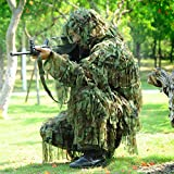 LytHarvest 3D Strips Ghillie Suit Hunting Camo Lightweight Breathable Camouflage Hunting Suit, Woodl