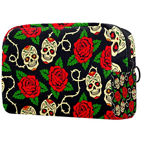 Bolsa de maquillaje para mujer, bolsa organizadora de cosméticos, bolsa con cremallera, diseño de bosque