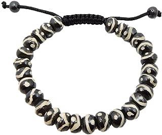 Tibetan Mala Yak Bone Buddha of Compassion Wrist Mala Bracelet for Meditation
