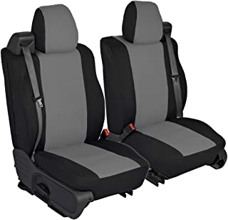 CarsCover Custom Fit 2004-2008 Ford F150 Pickup Truck Neoprene Car Front Seat Covers Gray & Black Sides Driver & Passenger Cover