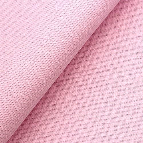 Popeline - Tessuto in cotone 100% cotone, tessuto al metro (rosa, 100 cm x 155 cm)