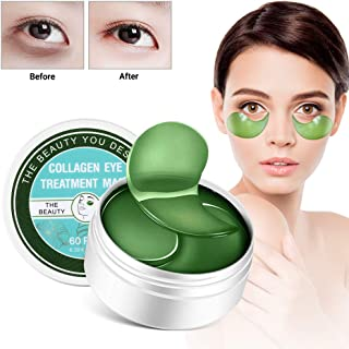 Under Eye Mask Camellia Sinensis(Green Tea)&Vitamin E Anti-Aging Mask Treatment Pads for Puffy Eyes & Bags Dark Circles and Wrinkles Gel Pads 30 Pairs
