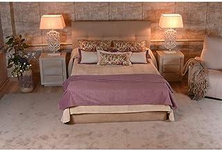 tapidecor CABECERO Madera TAPIZADO CAPITONE Color para Cama Individual 80-90 - 105 CM 100X126 Coleccion Textil Dormitorio Wild Flowers