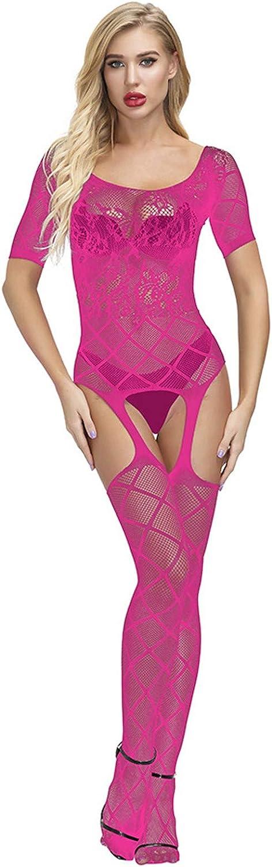 WUAI Sexy Lingerie for Women Mesh Lingerie Fishnet Bodysuits Seductive Nightwear Transparent Lingeries