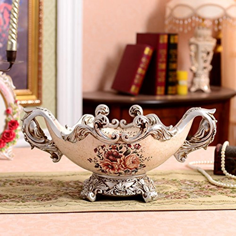 MLGG Bols de Fruits Maison rétro européen Bol résine OrneHommest de Jardin Palais Luxe Table d'Affichage,R