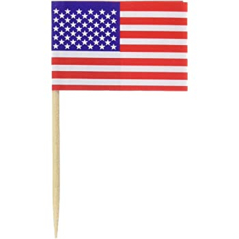Pkgd U S Flag Picks (50/Pkg)