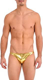 Gary Majdell Sport Men's Metallic Ultra Greek Bikini Swimsuit Contour Pouch