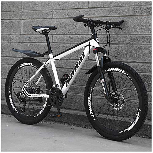LJJ Mountain Bike 26 Pollici Sospensioni Anteriori Mountain Bikes con Smorzamento Ammortizzata 21/24/27/30 velocità Beach motoslitta Biciclette