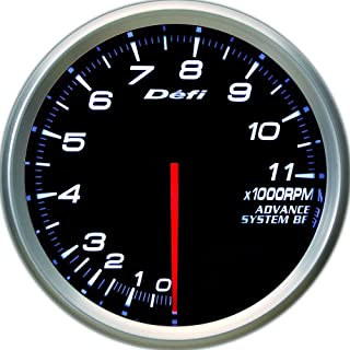Defi DF11001 Advance BF Tachometer, 11000 RPM, White, 80mm