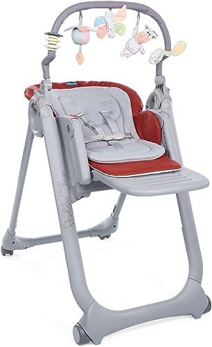 Chicco Polly Magic Relax Chaise Haute Évolutive et Pliable pour Bébé à 4 Roues, Enfants de la Naissance à 3 ans (15 k...