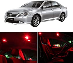 SCITOO Interior LED Lights Red Replacement Fits for Toyota Camry 2007-2011 Accessories Package Kit 8Pcs