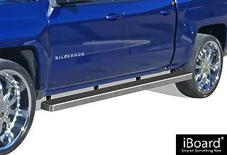 APS 6in Wheel-to-Wheel Nerf Bars Custom Fit 07-18 Silverado Sierra Crew Cab 5.5ft Bed
