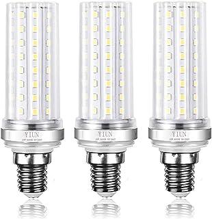 YIUN E14 Bombillas vela del LED, 20W LED Candelabra bombillas de 150 vatios equivalente, 1800lm, blanco frío 6000K, lámpara LED no regulables, paquete de 3