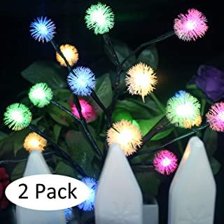 Solar Powered Tree Light Colorful Light Garden Outdoor Yard Lawn seenlast Landscape Lamp Perfect for Home Festival Party Wedding Christmas Indoor Outdoor Decoration 2 Set (Snowflake)