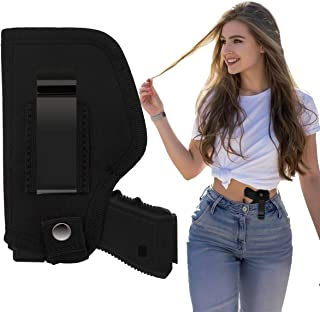 Necesa Concealed Carry Holster, IWB/OWB Gun Holster,Universal Holsters Inside Outside The Waistband Holster Bundle for Women Men Right Left Hand Draw, Fits for Compact Mid Size & Full Size Pistols