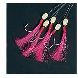 Balzer Makrelenpaternoster 1,80m 5 Haken Gr. 1/0 - Meeresvorfach zum Angeln auf Makrelen, Makrelenvorfach, Paternoster, Vorfach, Farbe:Pink