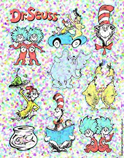 Eureka Back to School Dr. Seuss Glitter Classroom Stickers for Kids and Teachers, 20pc