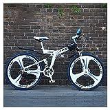 Bicicleta de montaña para Deportes al Aire Libre con Doble suspensión Marco Plegable de Acero de Alto Carbono La transmisión de 26 Pulgadas y 27 velocidades se Puede Usar para Trekking y Trekking