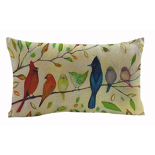 Decorative Pillows With Birds Amazon Com