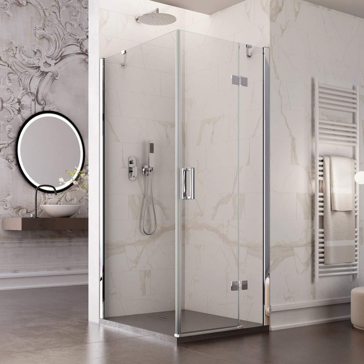 Olimpo duchas reg-100 X 80 ducha cabina sin perfiles Puerta ...