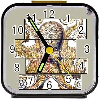 Bernie Gresham Alarm Clock Octopus Alarm Clock for Children Custom Square Black Alarm Clock 3.27