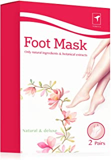 Exfoliating Foot Peel Mask for Softer, Smooth Feet- Gently Peel Away Calluses & Dead Skin, Repair Rough Heels, Get Beautiful Baby Feet in 7 Days (2 Pack)