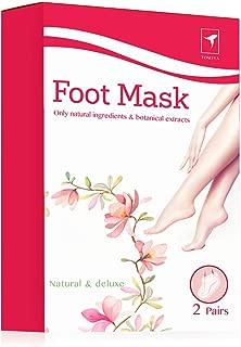 Exfoliating Foot Peel Mask for Softer, Smooth Feet- Gently Peel Away Calluses & Dead Skin, Repair Rough Heels, Get Beautiful Baby Feet in 7 Days (2 Pack)