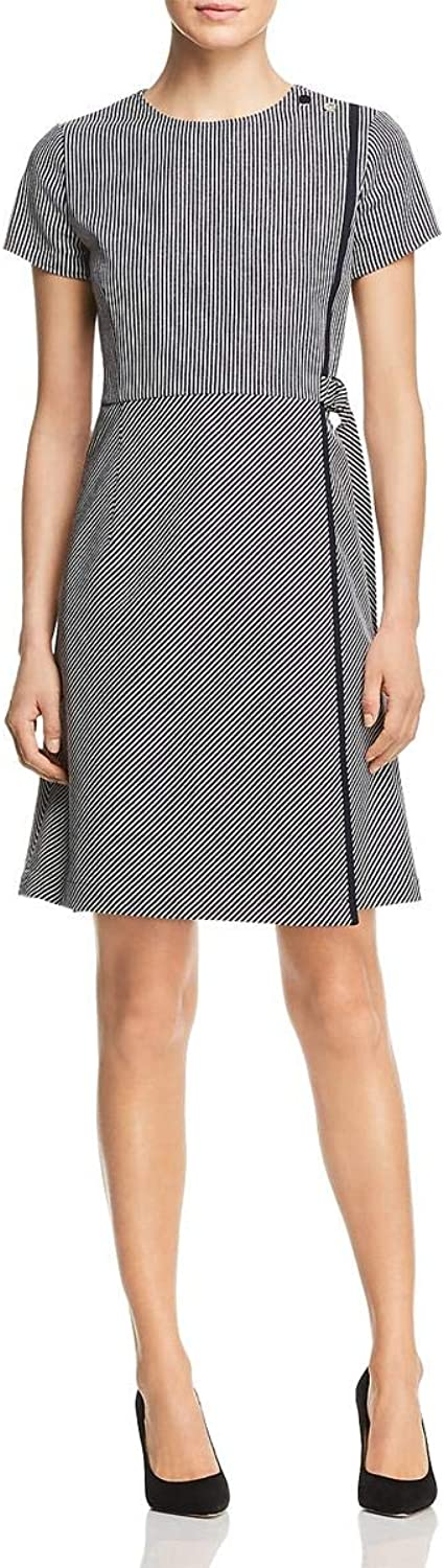 Hugo Boss BOSS Womens Hadiana Faux Wrap Special Occasion Cocktail Dress