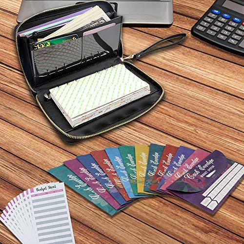 Cash Envelope System Wallet, All-in-One Cash Envelop Wallet with 24 Waterproof Money Budget Envelopes & 24 Budget Sheets & 24 Labels & 1 Marker, Envelope System for Cash Budgeting, Saving Money Photo #7
