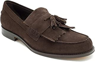 Tod's Men's Suede Penny Loafer Shoes Brown