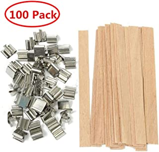 100 Piece 5 inch Wood Candle Wicks for Candle Making and Candle DIY (100 Pack)
