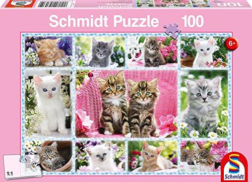 Schmidt Spiele - 56135 - Puzzle Classique - Chatons - 100 Pièces