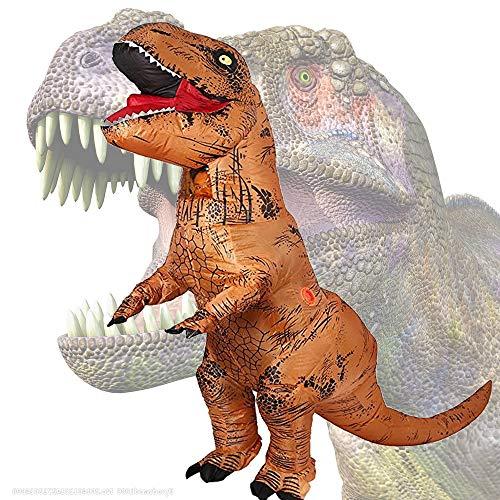 Ropa inflable de tiranosaurio. Vestido interesante Trajes de rendimiento. Ropa explosiva.