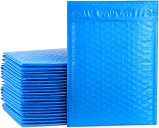 UCGOU 6x10 Inch Blue Poly Bubble Mailers Self Seal Padded Envelopes 50pcs
