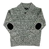 Jones New York Big Boys Button Shawl Collar Pullover Sweater Grey Twist 10/12