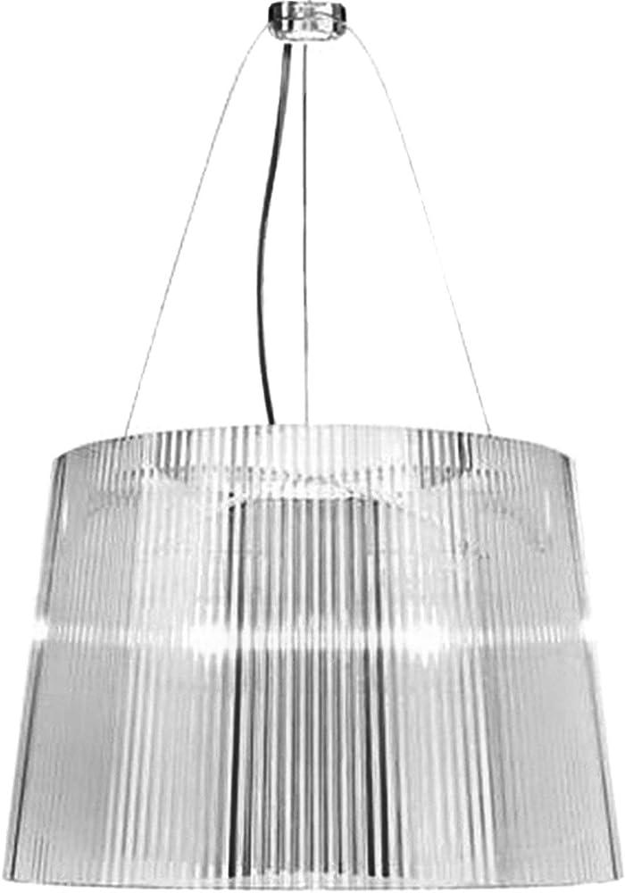 Kartell gè, lampada a sospensione, cristallo 09080B4
