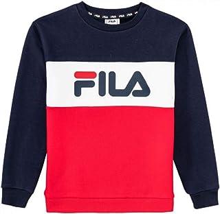 Fila T Shirt Garçon Noir 8A: : Vêtements et